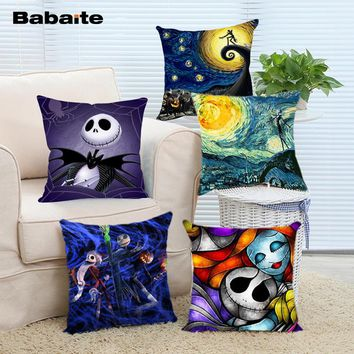 Babaite Starry Night the Nightmare Before Christmas Square Throw Pillow for Living Room Bed Room Great Gift for Friends