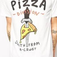 Lazy Oaf T-Shirt with Pizza Death Print at asos.com