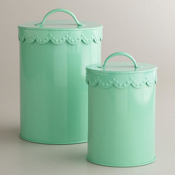Mint Vintage Scalloped Top Canisters | World Market