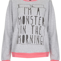 Monster PJ Sweat Top - New In This Week - New In - Topshop USA