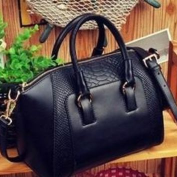 2016 New women handbag fashion brief crocodile pattern shoulder bags women messenger bags women leather handbags leather bags [8424656775]