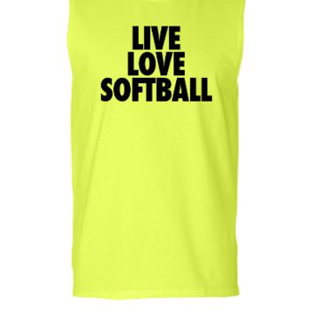 Live Love Softball - Sleeveless T-shirt