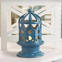 Porcelain Lantern With LED Candle