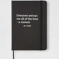 Jac Vanek Autobiography Notebook, True Black
