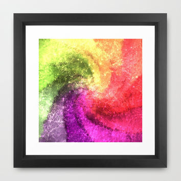 Crystalized colorful  dream painting mixed media by healinglove Framed Art Print by Healinglove products