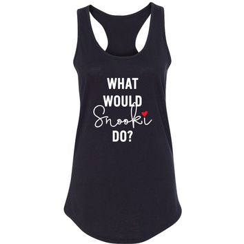 """MTV Jersey Shore """"What Would Snooki Do?"""" Racerback Tank Top"""