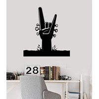 Vinyl Wall Decal Music Art Hard Rock Pop Guitar Sticker Mural (ig3249)