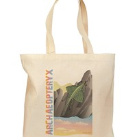 Archaopteryx - With Name Grocery Tote Bag by TooLoud