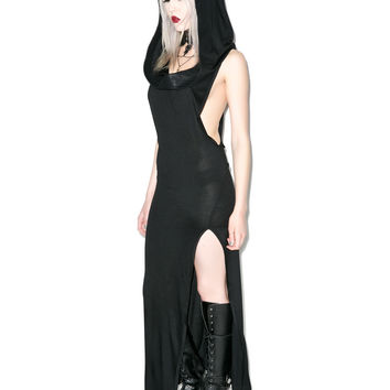 Lip Service Badlands Hooded Cowl Neck Dress
