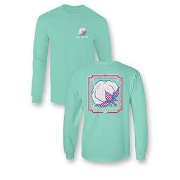 Sassy Frass Seersucker Cotton Comfort Colors Girlie Bright Long Sleeve T Shirt