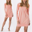 Womens pregnant maternity dress long sleeve sexy square neck sexy dress mini dresses(Red,Blue,Sky Blue,Pink)
