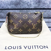 LV Louis Vuitton Fashion New Monogram Print High Quality Shopping Shoulder Bag Women