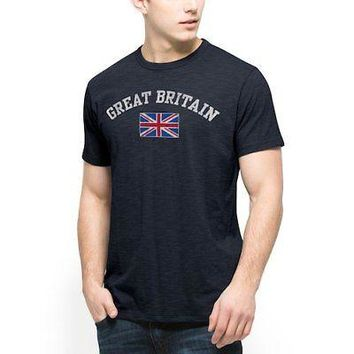 Licensed Sports Great Britian '47 Country Scrum Crew T-Shirt - Royal KO_20_2