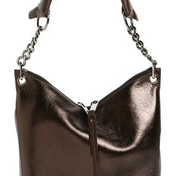 Jimmy Choo 'Raven' Metallic Leather Shoulder Bag | Nordstrom
