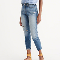 Womens High Rise Girlfriend Jeans | Womens Bottoms | Abercrombie.com