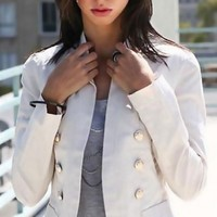 Buttoned Open Blazer - Diva Hot Couture
