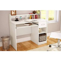 South Shore Black Smart Basics Small Desk With Optional Bookcase - Walmart.com
