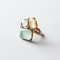 Green Stone Cluster Ring