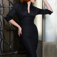 Pinup Couture Lauren Dress in Solid Black