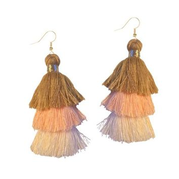 TIRAMISU TASSEL EARRINGS