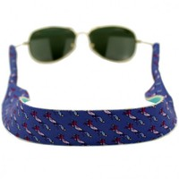 Longshanks Neoprene Sunglass Straps in Blue by Country Club Prep