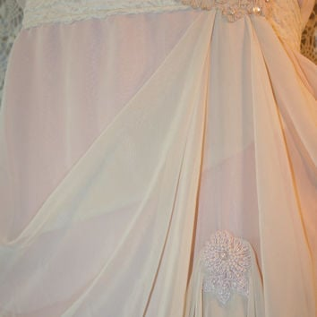 Upcycled Wedding Dress Bridesmaid Dress Tattered Shabby Chic Prom Dress Romantic Whimsical Dress Pink Dress