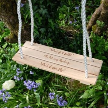 Personalised Classic Wooden Swing