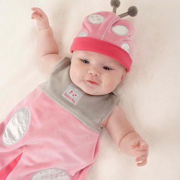 Baby Aspen Snug As a Bug Ladybug Snuggle Sack & Hat 0-6 months