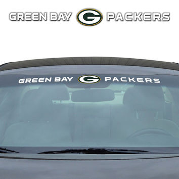 Green Bay Packers Decal 35x4 Windshield
