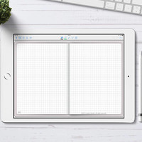 Digital Bullet Journal with Grid pages for GoodNotes App, Digital Bujo with hyperlinks, iPad Pro Digital Journal