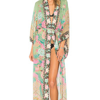 Spell & The Gypsy Collective Cloud Dancer Kimono in Sage | REVOLVE