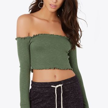 Rib And Famous Crop Top