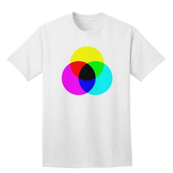 CMYK Color Model Adult T-Shirt by TooLoud