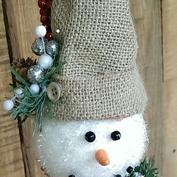 Rustic Tree Topper Bed  Spring Christmas Snowman Decor Holiday Decor