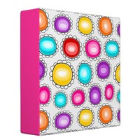 Colorful country flowers Binder