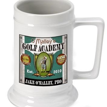 16oz. Ceramic Beer Stein - Golf Academy