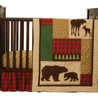 Northwoods - 3 Piece Crib Bedding Set