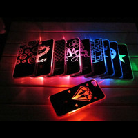iPhone 5 5G Sense Flash Light Led Hard Case Cover Newest iPhone 5 Cases Free Screen Protector As A Gift, Shipped Same Day