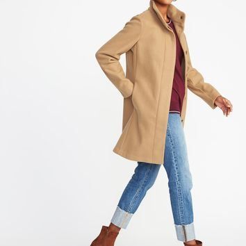 Bouclé Funnel-Neck Coat for Women | Old Navy