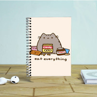Pusheen The Cat Eat Every Thing Photo Notebook Auroid