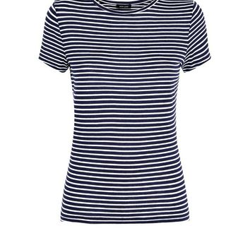 Blue Stripe Short Sleeve T-Shirt | New Look
