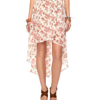 Sheer Floral High-Low Skirt | FOREVER21 - 2000036033