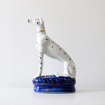Vintage Ceramic Dalmatian Dog Figurine