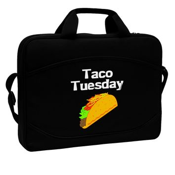 """Taco Tuesday Design 15"""" Dark Laptop / Tablet Case Bag by TooLoud"""