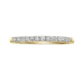 Cherish Always 14k Gold 1/4-ct. T.W. Certified Diamond Wedding Ring (White)