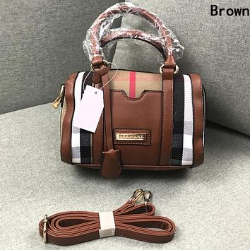 Burberry Newest Fashion Women Shopping Leather Handbag Tote Shoulder Bag Crossbody Satchel Brown