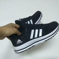"""""""Adidas"""" Unisex Casual Fashion Multicolor Stripe Flyknit Running Shoes Couple Sneakers"""