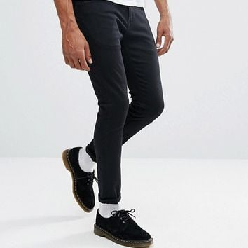 Lee Malone Super Skinny Jeans Dark Gray Wash at asos.com