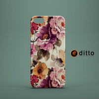 VINTAGE SPRING FLOWERS Design Custom Case by ditto! for iPhone 6 6 Plus iPhone 5 5s 5c iPhone 4 4s Samsung Galaxy s3 s4 & s5 and Note 2 3 4