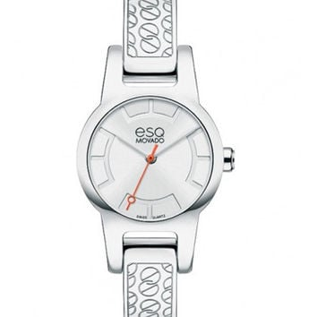 ESQ Movado Nova Ladies Watch - Stainless Steel - Bangle Bracelet - Sunray Dial